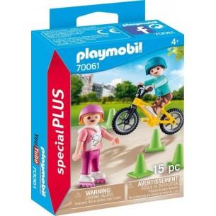 PLAYMOBIL-SPECIAL PLUS-BAMBINI CON PATTINI E BMX