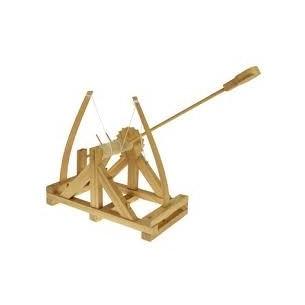 LEONARDO DA VINCI - LA CATAPULTA da costruire in legno