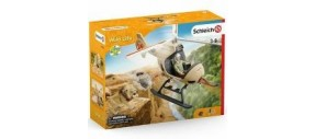 SCHLEICH 42476 - ELICOTTERO SOCCORSO ANIMALI - WILD LIFE