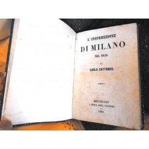 LIBRI RARI ANTICHI - L'INSURREZIONE DI MILANO DEL 1848