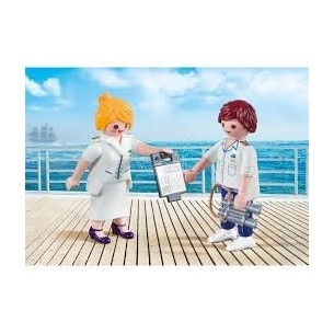 PLAYMOBIL 9216 - DUO PACK COMANDANTE E HOSTESS